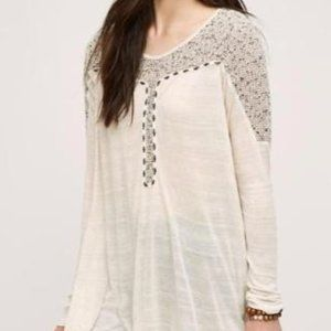 Anthropologie L Meadow Rue Embroidered Sweater NWT